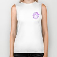 monogram Biker Tanks featuring Monogram by Come & See