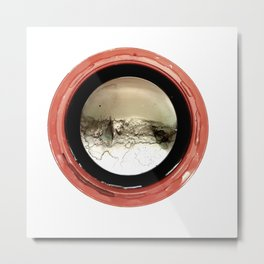Circle Red Metal Print