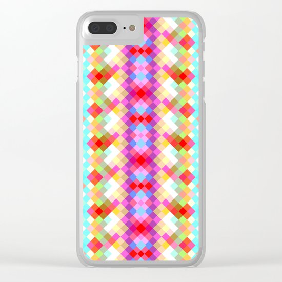 Colorful pixels Clear iPhone Case