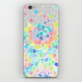 Rainbow Cubes & Diamonds iPhone Skin