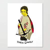 simpson Canvas Prints featuring Daryl Simpson by sara banu