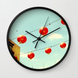 Lanterns III, Chinatown Wall Clock