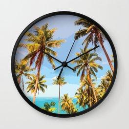 Aloha Ohana Wall Clock