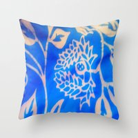 bali Throw Pillows featuring Bali by Mirabella Market