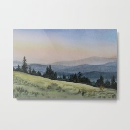 Early Morning in the Mountains Metal Print