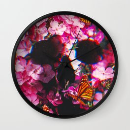Pinkish Flowers  Wall Clock
