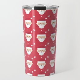 Santa Clause And Snowflake Christmas Pattern Travel Mug