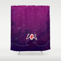 robot Shower Curtains featuring Robot by Cola82