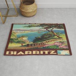 Vintage poster - Biarritz, France Rug