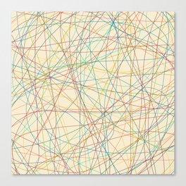 Retro Cholored Line Chaos Canvas Print