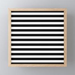 Abstract Black and White Stripe Lines 12 Framed Mini Art Print
