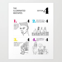 The Illuminated Mixtapes, Edition 4 Art Print