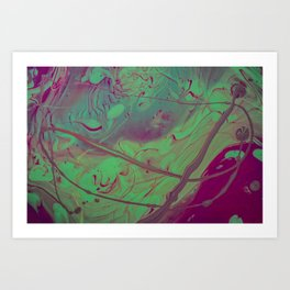 Acid Spill Art Print