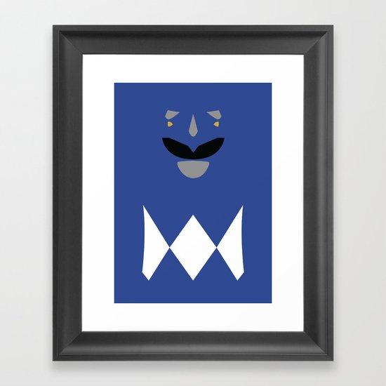 Power Rangers - Blue Ranger Minimalist Framed Art Print