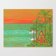 A Frame Dream Home Surf Paradise Canvas Print