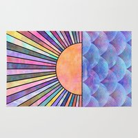 sunrise Area & Throw Rugs featuring Sunrise by Schatzi Brown