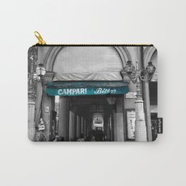 Black and White Bologna Street Photography Vector Green Carry-All Pouch