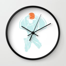 Basketball Dunk Playing Is Destiny And Passion Basketball Wall Clock