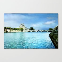 Seine River - Paris France Canvas Print