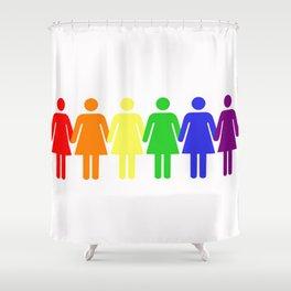 Rainbow Women (Lesbian, LGBT) Shower Curtain