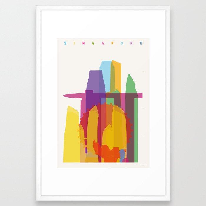 Shapes of Singapore. Framed Art Print