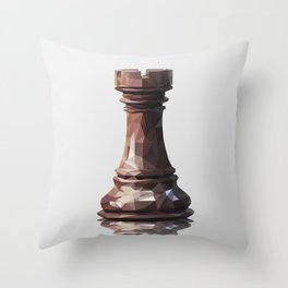 rook low poly Throw Pillow