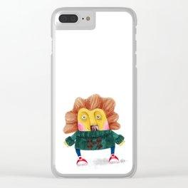 Cute Cub Clear iPhone Case
