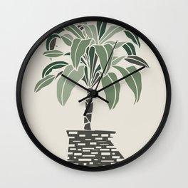 Minimal pot palm Wall Clock