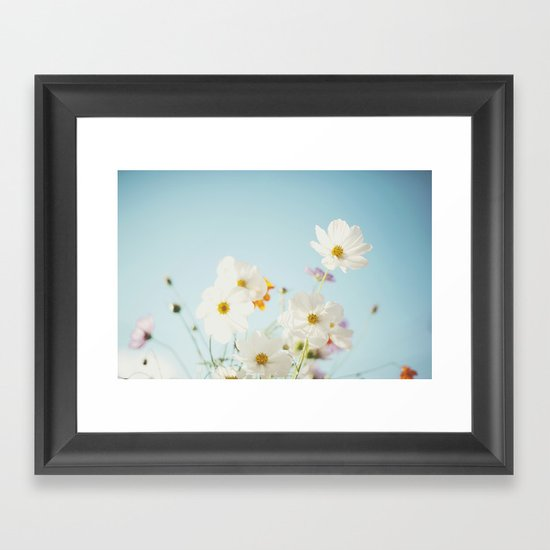 Garden of flowers. Framed Art Print