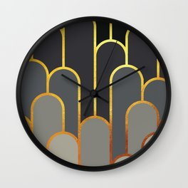 Art Deco Looking For Clues Wall Clock