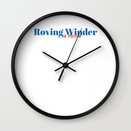 Roving Winder in Action Wall Clock