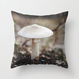 Lone Mushroom Throw Pillow