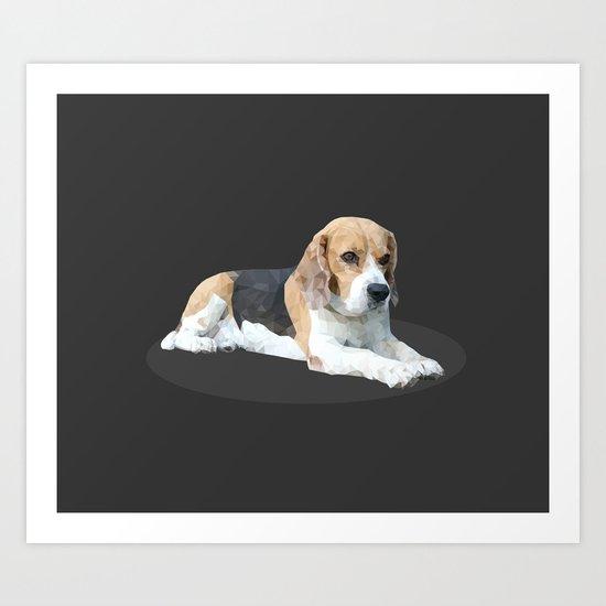 Beagle Dog #3 Art Print