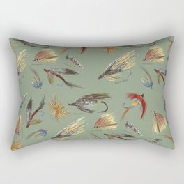 Fly fishing with hand tied lures! Rectangular Pillow