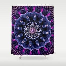 Mandala Flower Ultra Violet Art Shower Curtain