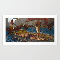 John William Waterhouse - Ulysses and the Sirens Art Print