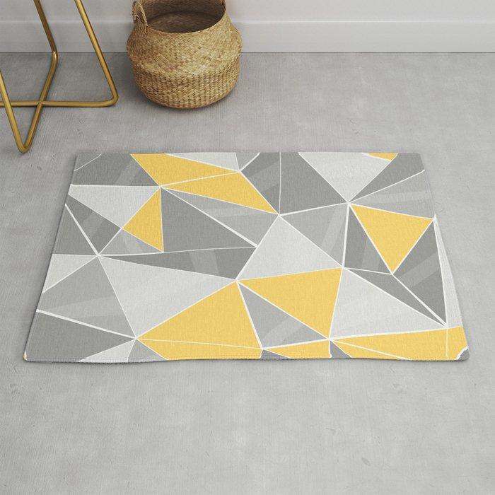 Pattern Grey Yellow Rug By Lindella