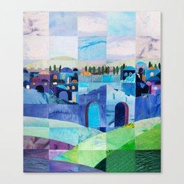 Jerusalem in Blue Canvas Print