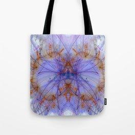 Smokey Violet Orange Rings Tote Bag