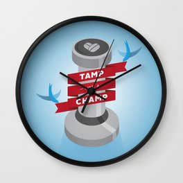 Tamp Like A Champ Wall Clock