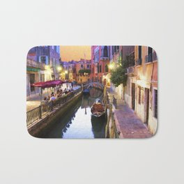 Sunset Alley In Venice Italy Bath Mat