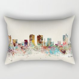 fort worth skyline Rectangular Pillow