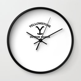yellowstone dutton ranch Wall Clock
