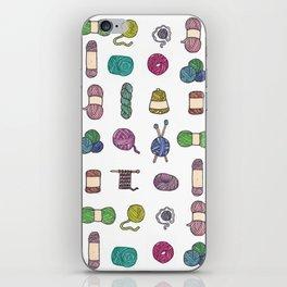 Knitting Balls of Yarn - Watercolor iPhone Skin