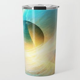 Abstract Space Sphere and Flow Travel Mug