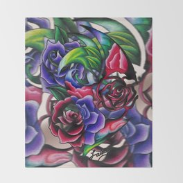 Roses Roses Roses Throw Blanket