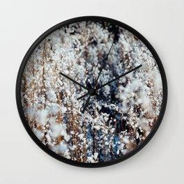 Snow Grass Wall Clock