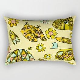 wanderlust // dream homes among the waves // surfy birdy art Rectangular Pillow
