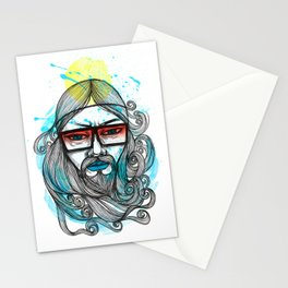 A Man with Shades and Beard Stationery Cards