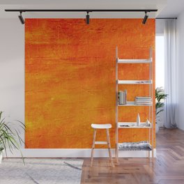 Orange Sunset Textured Acrylic Painting Wall Mural